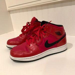 Red Air Jordan 1's